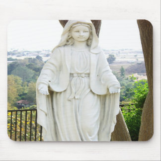 Virgin Mary Garden Statue Mouse Pad
