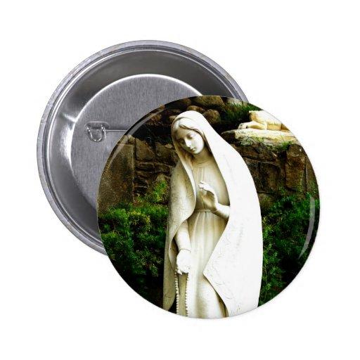 Virgin Mary Garden Statue Pin