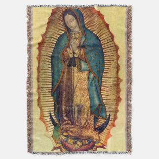 Virgin Mary Guadalupe Full Tilma Throw Blanket