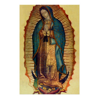 Virgin Mary Guadalupe Tilma Full Image Poster
