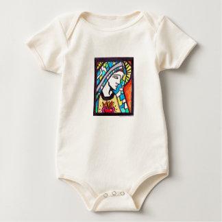 Virgin Mary Immaculate Heart Baby Creeper