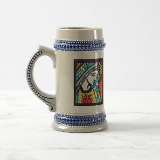 Virgin Mary Immaculate Heart Stein Mug