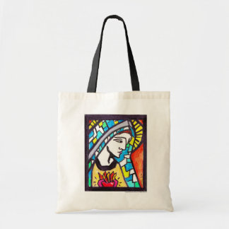 Virgin Mary Immaculate Heart Budget Tote Bag