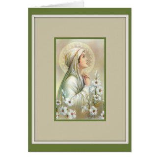 Virgin Mary Madonna Lilies Mental Peace Card