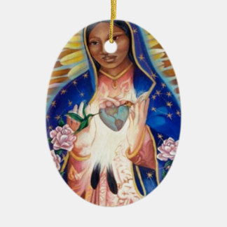 Virgin Mary - Our Lady Of Guadalupe Ceramic Ornament