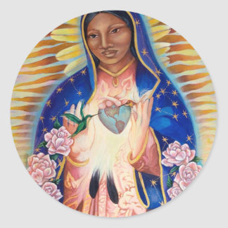 Virgin Mary - Our Lady Of Guadalupe Classic Round Sticker