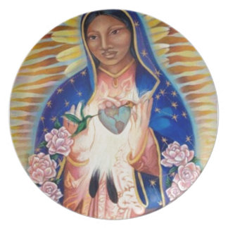Virgin Mary - Our Lady Of Guadalupe Plate