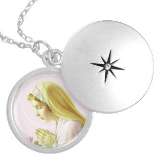 Virgin Mary Prayer Locket Necklace