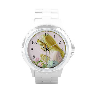 Virgin Mary Prayer Watch_With Numbers Wrist Watch