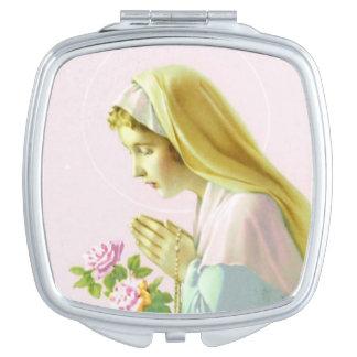 Virgin Mary Pryer Compact Mirror