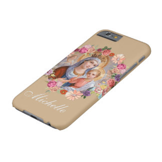 Virgin Mary Queen  Child Jesus Rosary Roses Barely There iPhone 6 Case