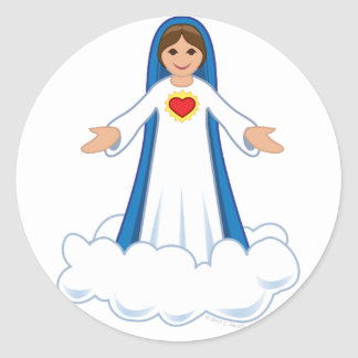 Virgin Mary Round Sticker