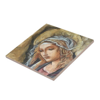 Virgin Mary Small Square Tile