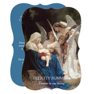 Virgin Mary Song of Angels Funeral Thank You Card