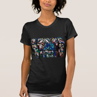 Virgin Mary stained glass window T-Shirt