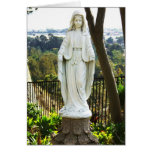 Virgin Mary Statue Greeting Card