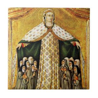 Virgin Mary Under Her Mantle Ceramic Tile
