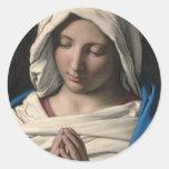 Virgin Mary / Virgen Maria Round Sticker