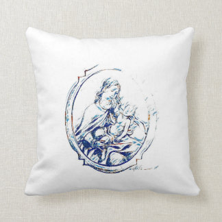 Virgin Mary with Child Cushion