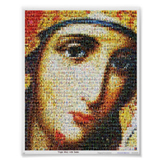 Virgin Mary with Saints Poster