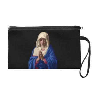 Virgin Mary Wristlet Clutch Purse