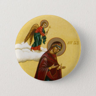 Virgin Mary's Russian icon 6 Cm Round Badge