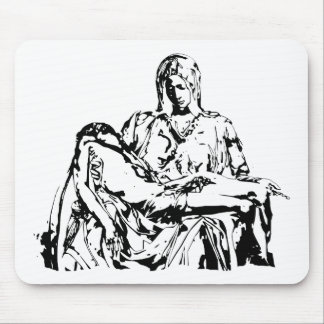 Virgin Mother Mary and Jesus Mouse Pad