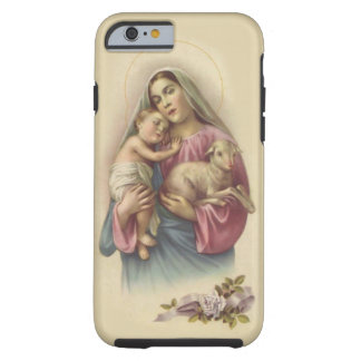 Virgin Mother Mary Baby Jesus Lamb Tough iPhone 6 Case