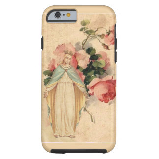 Virgin Mother Mary Vintage Floral Tough iPhone 6 Case