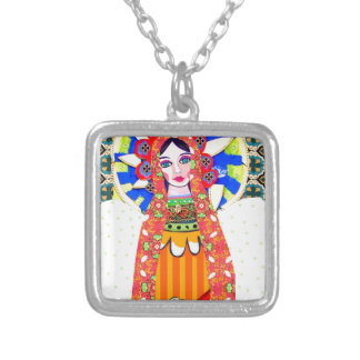 Virgin of Guadalupe Silver Plated Necklace