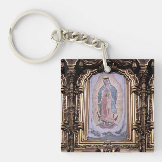 Virgin of Guadalupe Single-Sided Square Acrylic Key Ring
