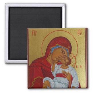 Virgin of Tenderness Orthodox icon magnet