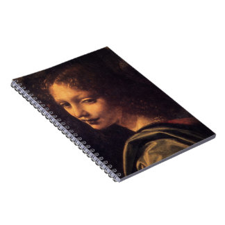 Virgin of the Rocks - Angel journal Spiral Notebooks