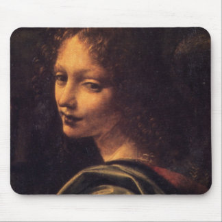 Virgin of the Rocks - Angel Mouse Pad