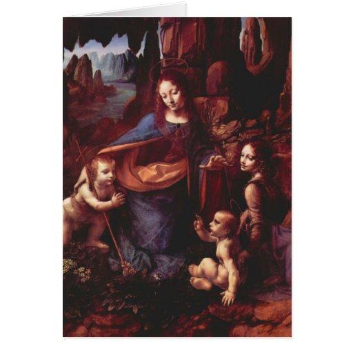 Virgin of the Rocks by Leonardo da Vinci Christmas Cards