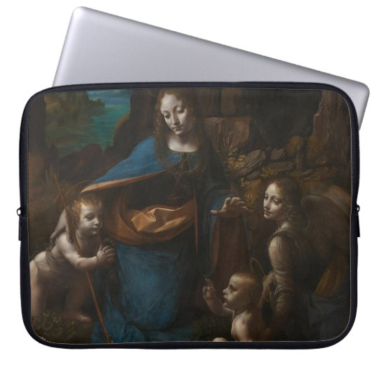 Virgin of the Rocks by Leonardo da Vinci Laptop Sleeve