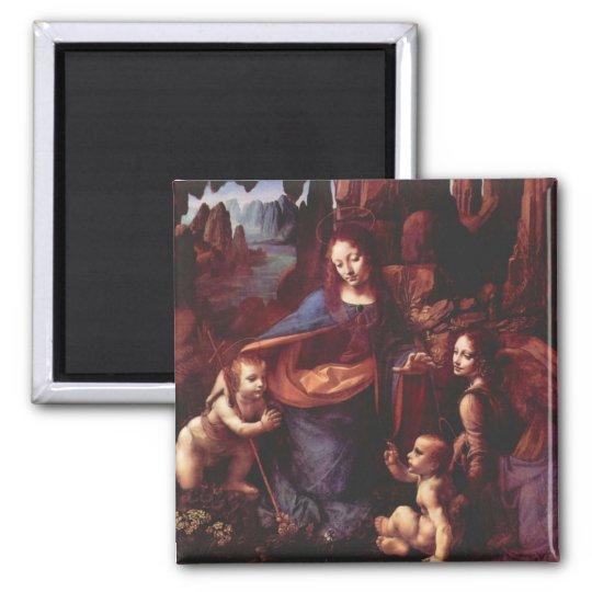 Virgin of the Rocks by Leonardo da Vinci Magnet