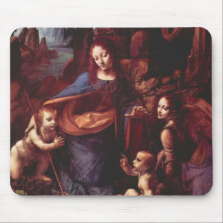 Virgin of the Rocks by Leonardo da Vinci Mouse Pad