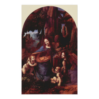 Virgin of the Rocks by Leonardo da Vinci Poster