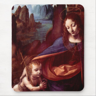 Virgin of the Rocks - London Version Mouse Pad