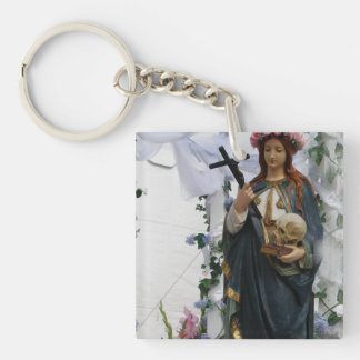 virgin Of The Sea Single-Sided Square Acrylic Key Ring