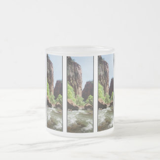 Virgin River At Zion Nat'l Park Frosted Glass Coffee Mug