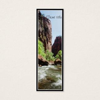 Virgin River At Zion Nat'l Park Mini Business Card