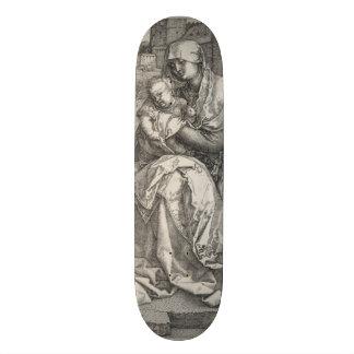 Virgin Sitting by a Wall by Albrecht Durer Skateboard Decks