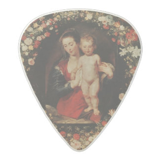 Virgin with a Garland of Flowers, c.1618-20 Acetal Guitar Pick