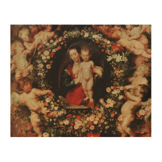 Virgin with a Garland of Flowers, c.1618-20 Wood Canvas