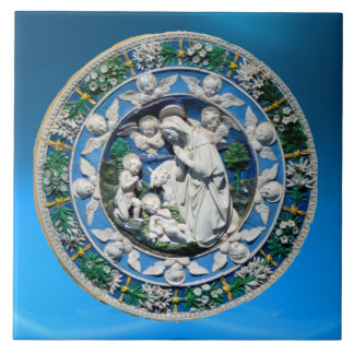 VIRGIN WITH CHILD AND ANGELS CERAMIC TILE