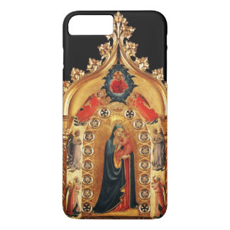 VIRGIN WITH CHILD AND ANGELS GOLD SACRED ART ICON iPhone 8 PLUS/7 PLUS CASE