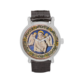 VIRGIN WITH CHILD AND ANGELS  Round Watches