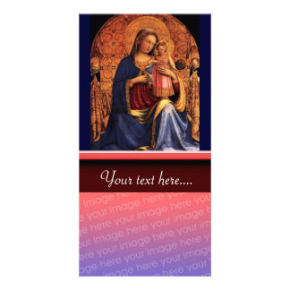 VIRGIN WITH CHILD AND SAINTS 2 PERSONALIZED PHOTO CARD